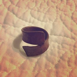 Copper wrap ring Size 6